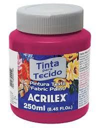Tinta Tecido Fosca 250ml Rosa Escuro - Acrilex