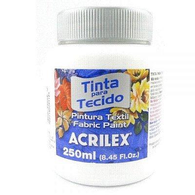 Tinta Tecido Fosca 250ml Branco - Acrilex
