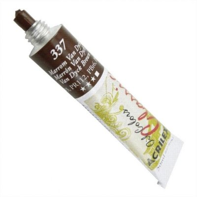 Tinta A Oleo Para Telas Marrom Van Dick 20ml - Acrilex
