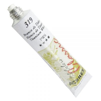 Tinta A Oleo Para Telas Branco De Titanio 20ml - Acrilex