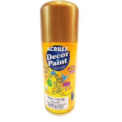 Tinta Em Spray Decor Paint Ouro