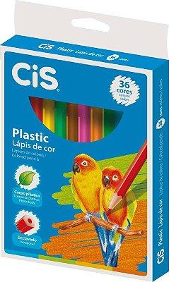 Lapis De Cor Sextavado Cis Plastic 36 Cores - Sertic