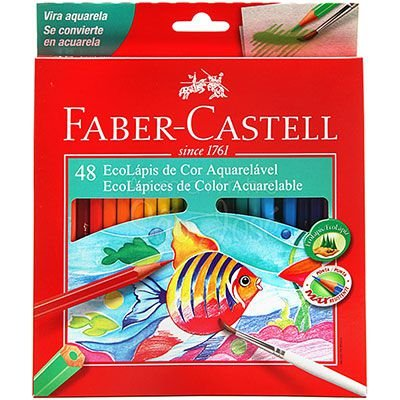 Lapis De Cor Aquarelavel 48 Cores - Faber-Castell