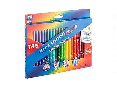 Lapis Cor Tris Mega Soft Color 24 Cores 1 Apont Cjto