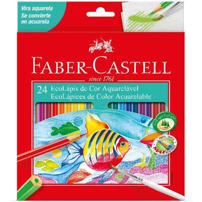 Lapis De Cor Aquarelavel 24 Cores Faber-Castell