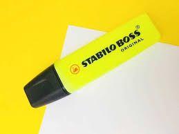 Marca Texto Stabilo Boss Amarelo Neon