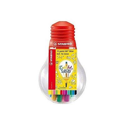 Kit Canetas Stabilo Mini Colorful Ideas