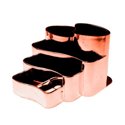 Porta Canetas Metalizado Rose Gold - Dello