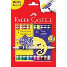 Canetinhas Hidrografica Bicolor 12un/24 Cores - Faber-Castell