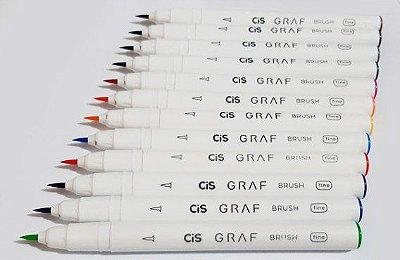 Caneta Graf Brush Fine Rosa - CIS