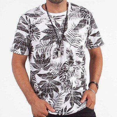 Camiseta Manga Curta Estampada - Kit Com 100 Unidades