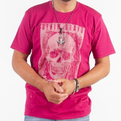 Camiseta Manga Curta Estampada - Kit Com 200 Unidades