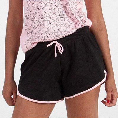 Shorts Feminino (Algodão e Poliester)