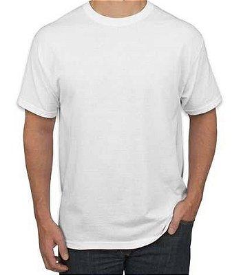 Camiseta Branca 100% Algodão - Fio 30/1 Penteado pra Sublimação