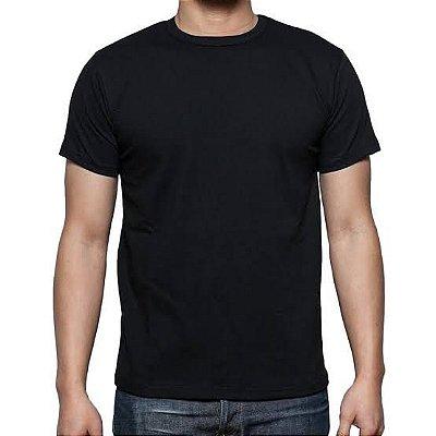 Camiseta Preta 100% Algodão - Fio 30/1 Penteado para Sublimação