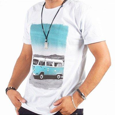 Camiseta Estampada 100% Algodão - Fio 30/1 Penteado - Caixa com 10 Peças