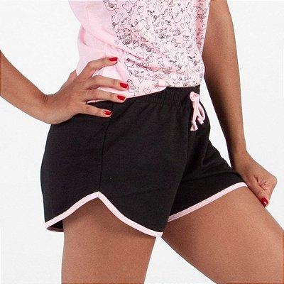Shorts Feminino (Algodão e Poliester) - Caixa com 10 Peças