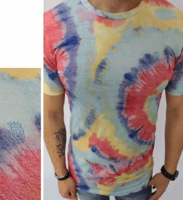 Camiseta Masculina Tie Dye Black West