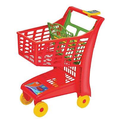 Carrinho de compras - Market Vermelho