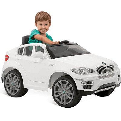 Carro Elétrico BMW X6 Branca R/C 6v