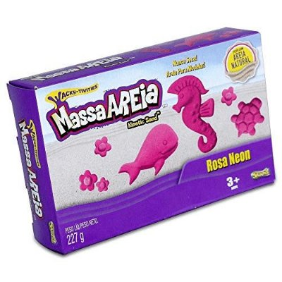 Massa areia Kinetic Sand 227g - Rosa Neon