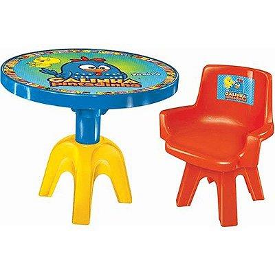 Mesa Com Cadeira Galinha Pintadinha