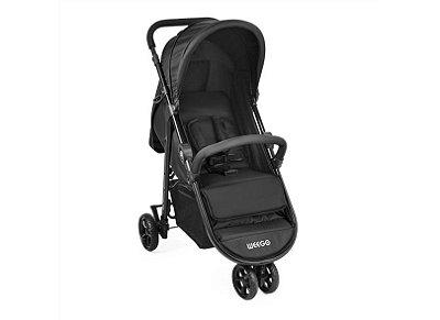 Carrinho de bebê Jogger 3 Rodas Weego Preto - Multikids Baby