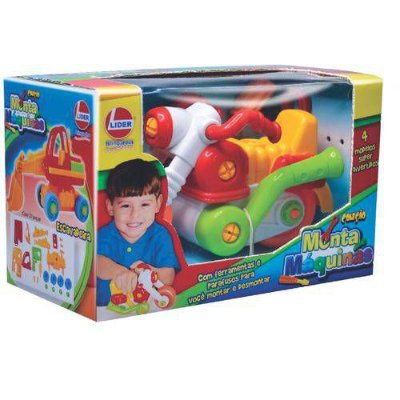Brinquedo Para Montar Monta Maquina