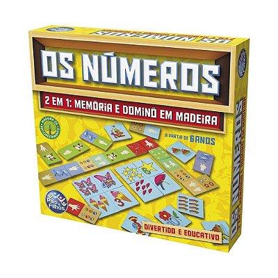 Jogo Os Números 2 Em 1 Memória E Dominó - Pais E Filhos