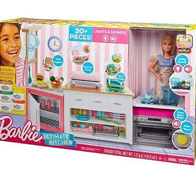 Boneca Barbie Cozinha De Luxo Playset - Mattel