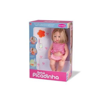 Boneca Bebê Picadinha Mancha E Sai
