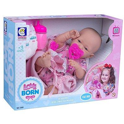 Boneca Love Born Faz Xixi Cotiplás