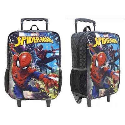 Mochila Infantil Com Rodinhas Xeryus 8670 Spider Man