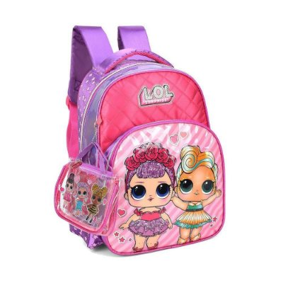 Mochila Costas Rosa Lol Surprise Luxcel