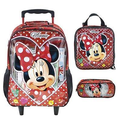 Mochila Escolar Minnie Mouse Love Xeryus de Rodinhas