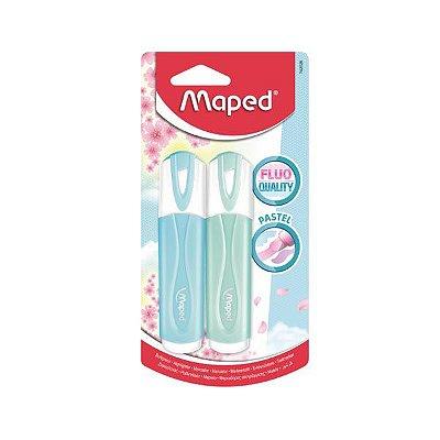Marca Texto Roller Pastel 2 Unidades Maped- azul
