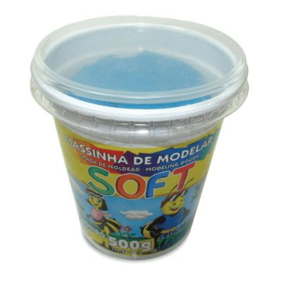 Massa Modelar Acrilex Soft Azul 500g