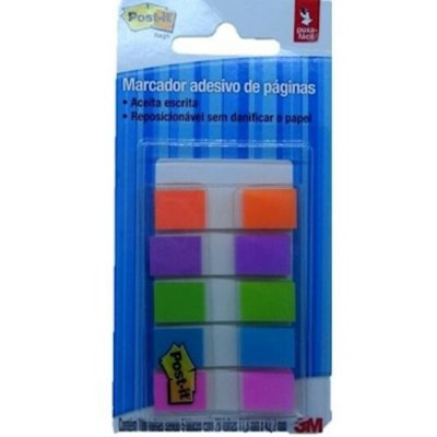 Marcador Adesivo Flags Post-it 5 Cores Neon 3m