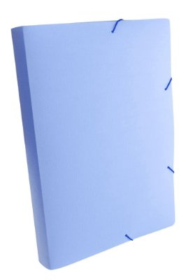Pasta Aba Elástico Ofício Dello Lombo Linho Serena Pastel Azul