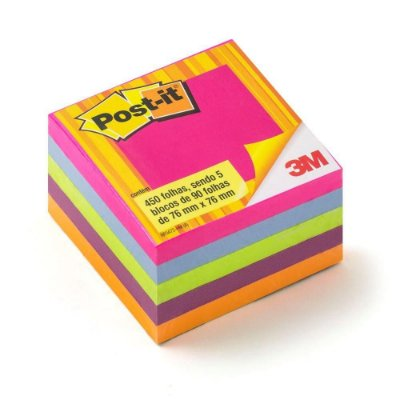 Post-it 654 Cubo Tropical 76 x 76mm 450 Folhas Post-it 3M
