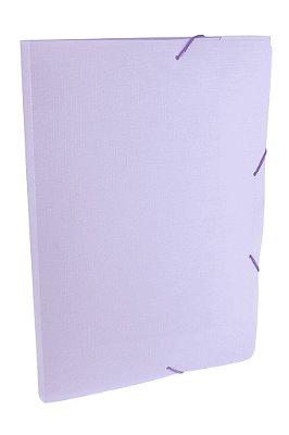 Pasta com Elástico Plástica Lilás Pastel 2 cm Dello