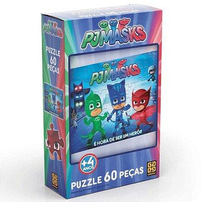 Quebra cabeça puzzle 60 pçs pjmasks - grow