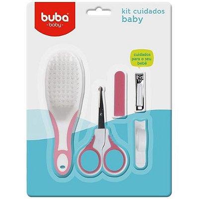 Kit de Higiene Cuidados Baby Rosa 4pçs 5239 - Buba Toys