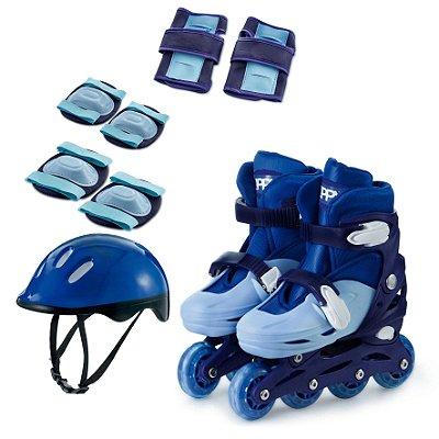 Zippy Toys Kit Patins In Line Ajust Azul 30-33