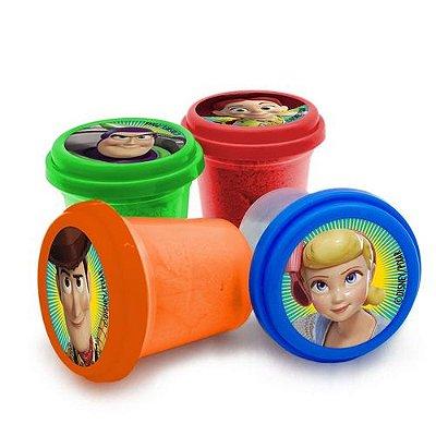Conjunto Areia de Modelar - Toy Story 4 - Quatro Potes com Cores Diferentes - Toyng