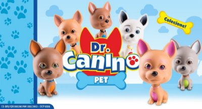 Brinquedo Cachorro Em Vinil 12cm Doutor Dr. Canino Pet Roma