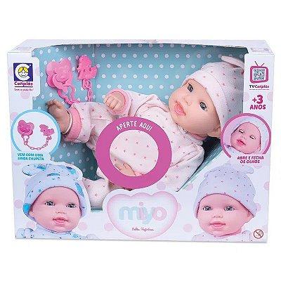 Boneca - Miyo Menina Com Sons De Bebê - Cotiplás