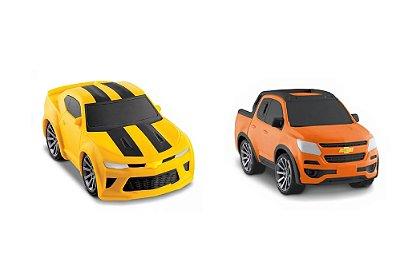 Coleção Carrinhos Chevrolet Camaro Kids - Vinil Para Bebês - Roma- sortido