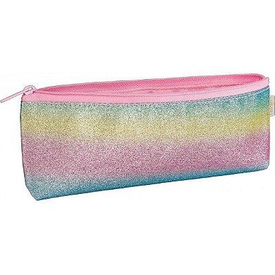Estojo Académie Rainbow Glitter Tilibra