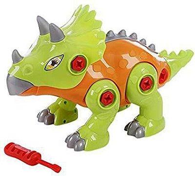 Dinossauro Didático Triceratops Sem Som - Maral - 4171